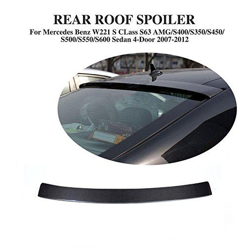 JCSPORTLINE Carton Fiber Rear Roof Spoiler for Mercedes Benz W221 S-Class (W221 Roof)