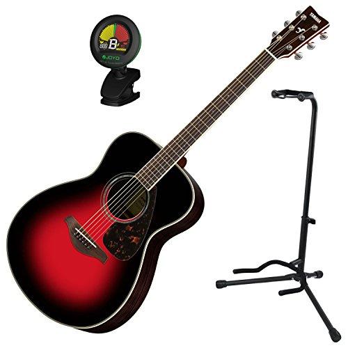 Yamaha FS830DSR Solid Sitka Top Small Body Folk Acoustic Guitar Dusk Sun Red w/