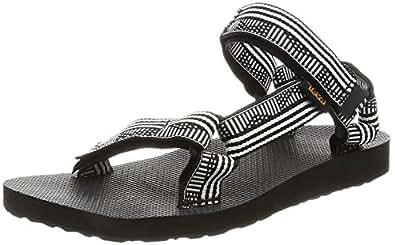 Teva Women's W Original Universal Sandal, Campo Black/White, 8 M US