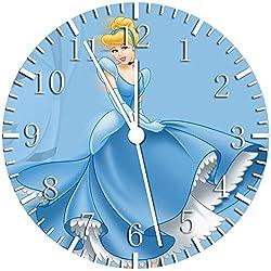 Disney Cinderella Borderless Frameless Wall Clock W99 Nice For Decor Or Gifts