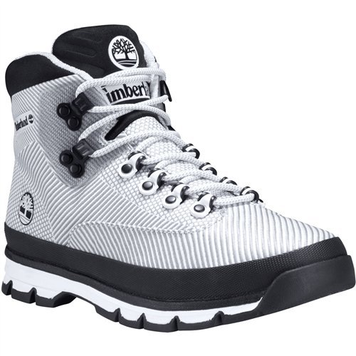 d10ad0867fe Timberland Mens Euro Hiker Jacquard Boot, White, Size 8