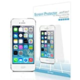 iPhone SE Screen Protector, amFilm Screen Protector for iPhone SE, 5, 5S, 5C Premium HD Clear (Invisible) (3-Pack)