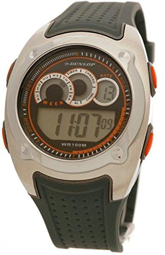 Dunlop DUN-54-G08 - Reloj Digital Para Hombre, color LCD/Gris