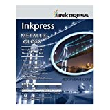 Inkpress Metallic Gloss Inkjet Paper, 255 gsm, 10 mil, Metallic Glossy Surface, 17''x100' Roll