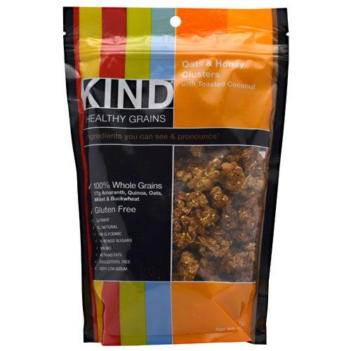 Kind Fruit and Nut Bars Kind Healthy Grains Oats and Honey Clusters with Toasted Coconut - 11 oz - Case of 6 by KIND