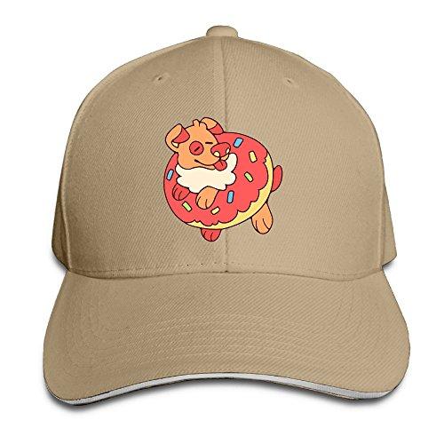 Macevoy Doughnut Dogs Casual Unisex Unstructured Cotton Cap Adjustable Baseball Hat Cap (Halloween Burgers Recipes)