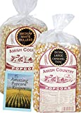 large amish popcorn - Amish Country Popcorn - 2 (2 lb. Bags Variety) with Recipe Guide - Medium White and Extra Large Caramel Type Popcorn