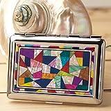 Etui à Cigarettes Pot Boîte Compact Métal Design Elegant Nacre MARQUETERIE COLOR