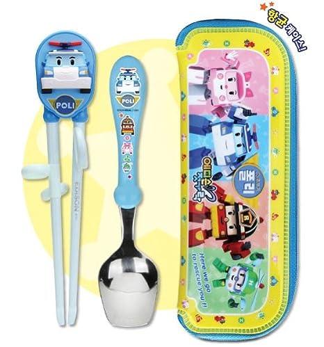 Robocar Poli Spoon+Chopstick Trainer+Case Set by Robot Car ...