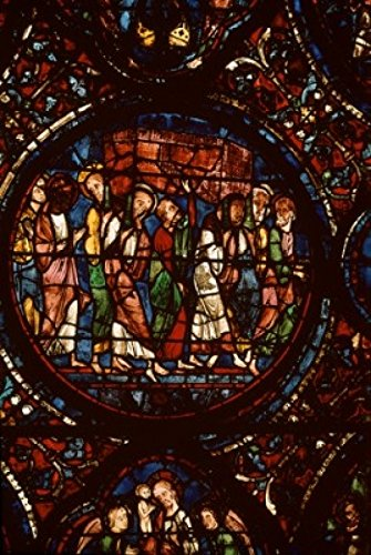 Posterazzi Religious Procession Stained Glass Chartres Cathedral France Poster Print, (24 x 36)