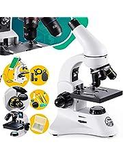 BEBANG Microscopio Profesional 200X-2000X para Niños & Infantiles & Estudiantes Science Kit para Educación Biológica de Laboratorio