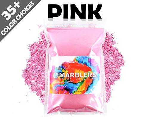 Marblers Powder Colorant 10oz (283g) [Pink] | Pearlescent Pigment | Tint | Pure Mica Powder for Resin | Dye | Non-Toxic | Great for Paint, Concrete, Epoxy, Soap, Nail Polish, Cosmetics