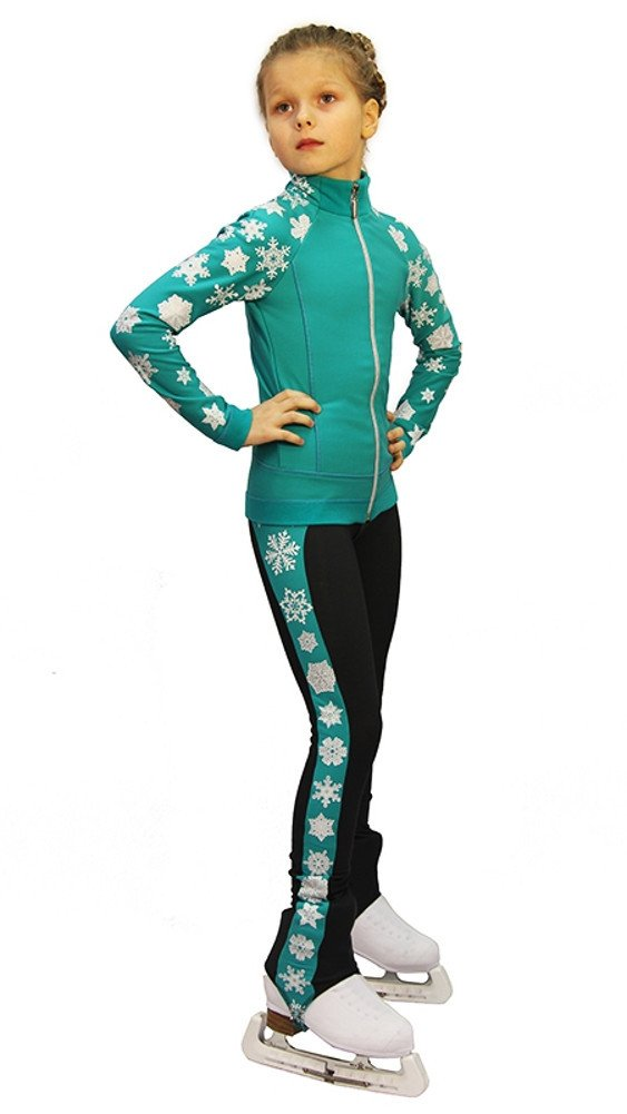 IceDress Figure Skating Outfit - Snowflake (Mint) (CXXS)