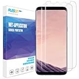 Galaxy S8 Plus Screen Protector, [2-Pack][Full Coverage] PLESON [Case Friendly][Bubble-Free][Anti-Scratch][No Lifted Edges] Wet Applied HD Clear Film Screen Protector for Samsung Galaxy S8 Plus / S8+