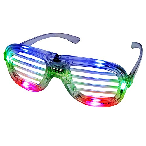 Multicolor LED Slotted Shades (4 Pack)