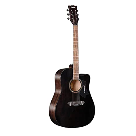 Boll-ATur Ink Black Series Guitarra acústica de una sola placa de ...