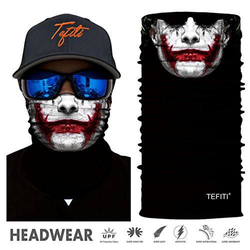 TEFITI Stretchable Sports Headwear for Camping,Running,Cycling,Biking,Motorcycling,Fishing,Hunting,Yard Working and Sun UV Protection (HR040713)]()