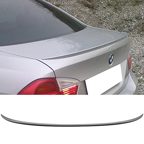 Pre-painted Trunk Spoiler Fits 2006-2011 BMW 3-Series E90 | M3 style ABS Painted # A52 Space Gray Rear Tail Lip Deck Boot Wing Other Color Available By IKON MOTORSPORTS | 2007 2008 2009 2010