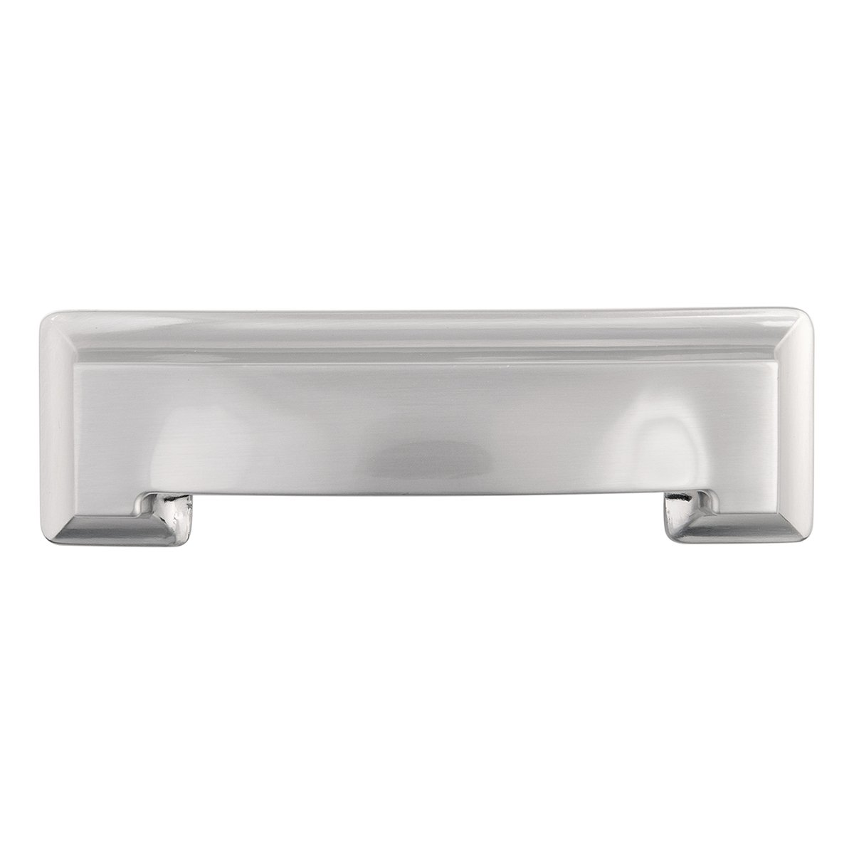 Hickory Hardware P3013-SN Studio Collection Cup Cabinet Pull, 3-Inch, Satin Nickel