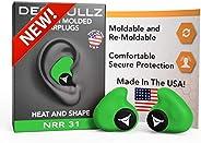 Decibullz - Custom Molded Earplugs, 31dB Highest NRR, Comfortable Hearing Protection for Shooting, Travel, Swi