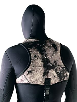SEAC Men's Python Free Diving Wetsuit Vest, Camouflage