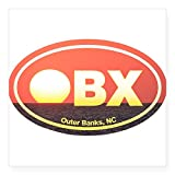 "CafePress - OBX Outer Banks Sunset Sticker - Square Bumper Sticker Car Decal, 3""x3"" (Small) or 5""x5"" (Large)"