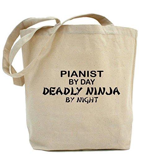 CafePress diseño único pianista Deadly Ninja Tote Bag–estándar por CafePress
