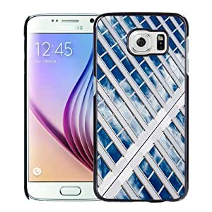 Fashionable Custom Designed Samsung Galaxy S6 Phone Case With Sky Reflected On Glass Windows_Black Phone Case