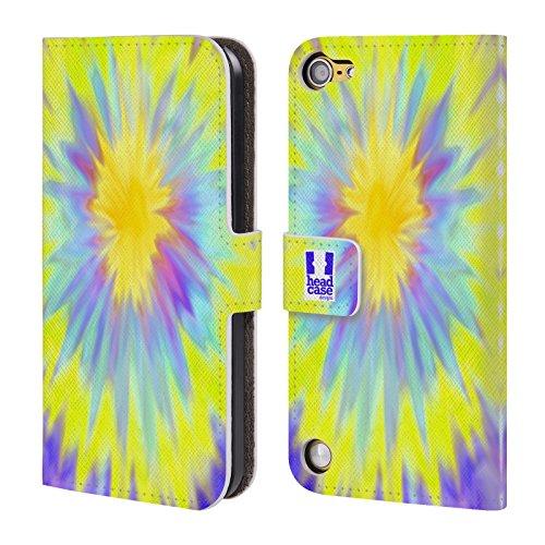 Head Case Di Corsa Tie Dye Cover telefono a portafoglio in pelle per Apple iPod Touch 5G 5th Gen / 6G 6th Gen