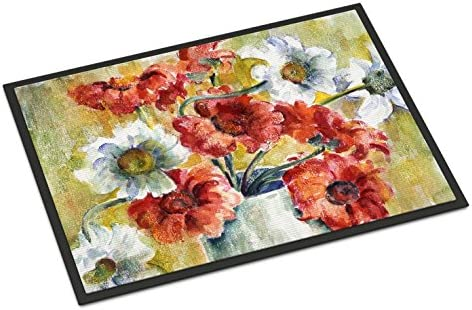 Caroline s Treasures GFGO0028JMAT Flowers by Fiona Goldbacher Indoor or Outdoor Mat 24×36, 24H X 36W, Multicolor