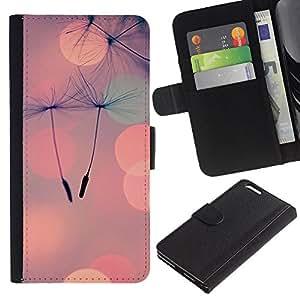 KLONGSHOP // Tirón de la caja Cartera de cuero con ranuras para tarjetas - Luces del foco de ciudad de naturaleza - Apple Iphone 6 PLUS 5.5 //