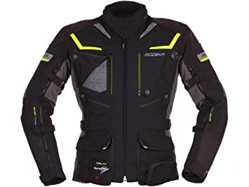 modeka textil Chaqueta Moto Chaqueta Panamericana Negro de amarillo: Amazon.es: Coche y moto