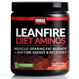 Force Factor LeanFire Diet Aminos Fat Burner with Anytime Energy and Added Lean Muscle-Sparing BCAAs for Recovery, 45 Servings