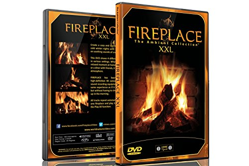 Fireplace DVD - Fireplace XXL - Filmed in HD - 2 DVD Set with Double Extra Long Fires with Burning Wood Sounds ()