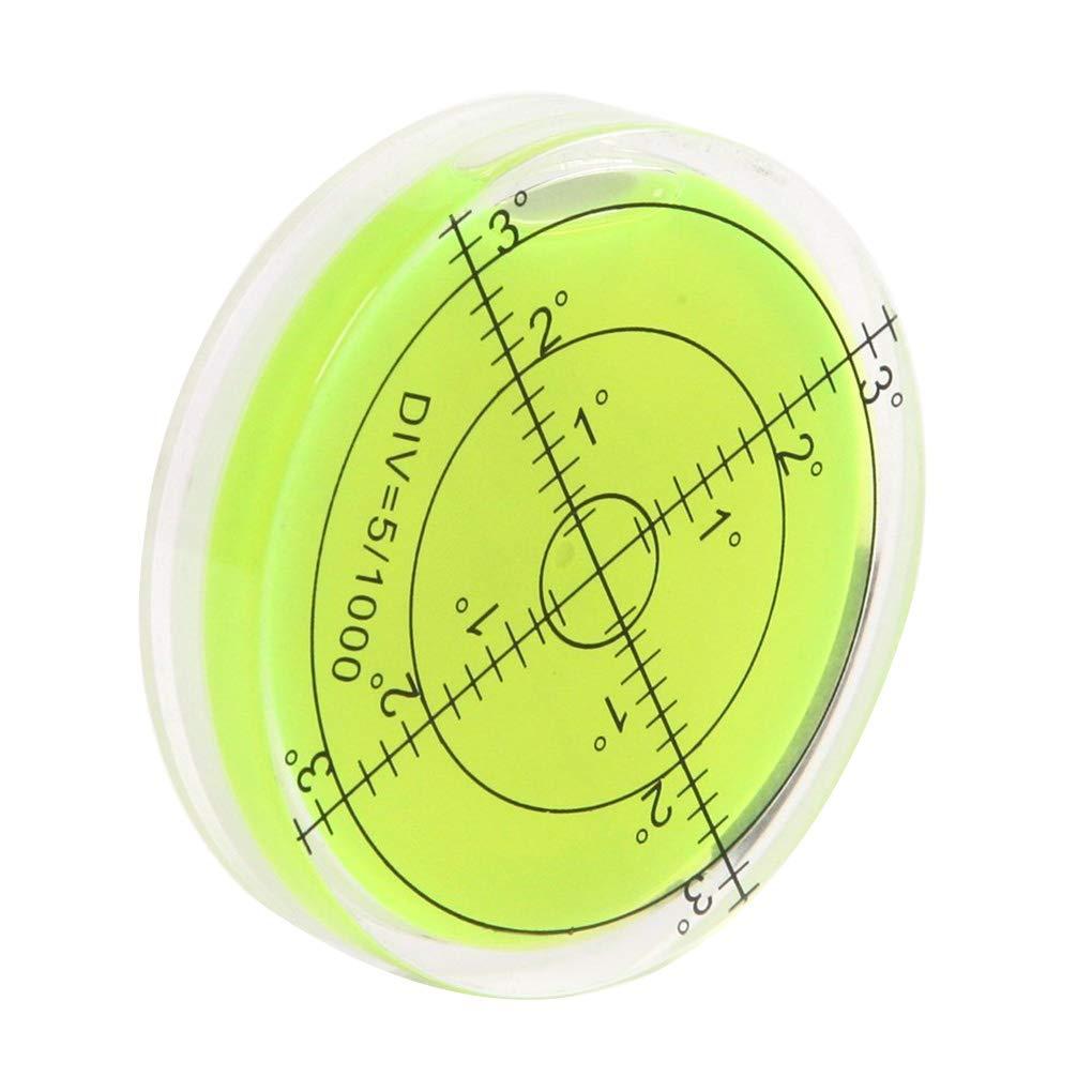 Babysbreath17 Burbuja Nivel de Superficie Redondas Nivel Ronda Nivel de inclin/ómetros Alta precisi/ón Horizontal Burbuja de Piezas de Nivel Instrumentos topogr/áficos