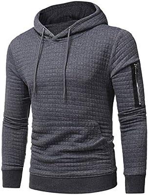 Men Long Sleeve Hoodie Sweatshirt Pullover Hooded Jumper Sweater Coat Jacket Top