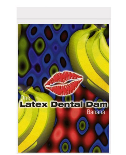 Latex dental dam, banana (package of 4)