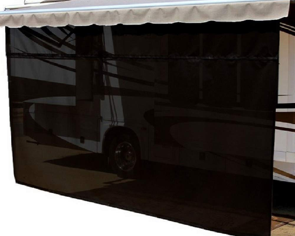 EasyShade SunBlocker Shades All of The Area Under Your RV Awning (12ft x 7ft Drop, Black) costdot inc RV90VARYBLK