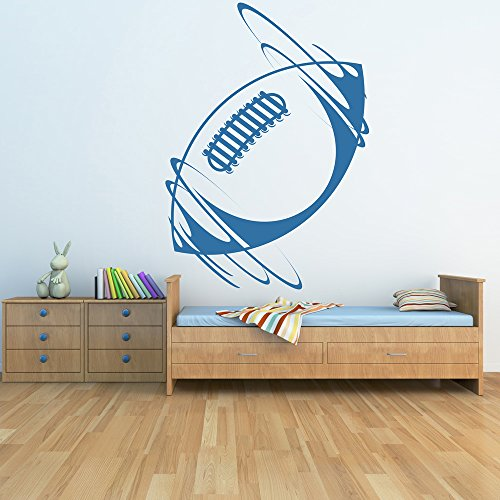 azutura Rugby Ball Wall Sticker Sports Wall Decal Boys Bedroom School Home Decor available in 5 Sizes and 25 Colours Small Burgundy