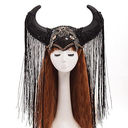 GRACEART Steampunk Burning Man Ox Horn Hat Halloween Headwear