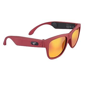 Gafas De Sol Bluetooth, con Lentes De Seguridad Polarizadas con Protección UV400, Música En Espera Y Llamadas con Manos Libres,Red: Amazon.es: Deportes y ...