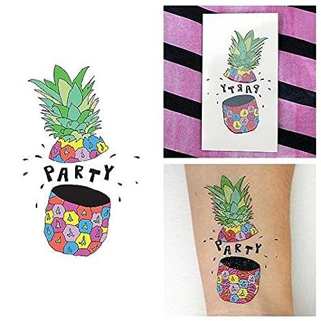 Tatuaje Temporal Tattify - Fruta Colorida - Piña Fiesta (Juego de ...
