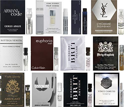 (Men's Designer Fragrance Samples - 12ct Cologne Vials)