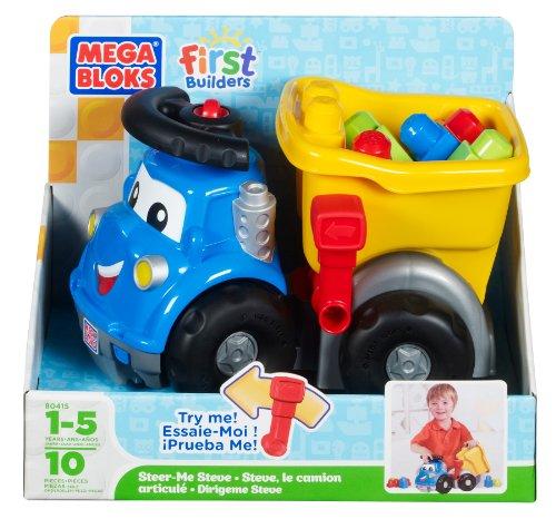 Mega Blocks Dump Truck (Mega Bloks First Builders Steer Me Steve)