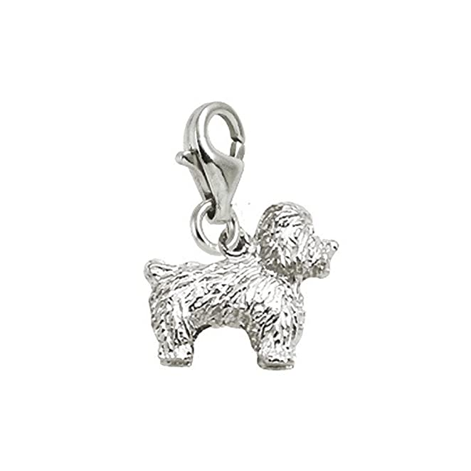 Bichon Charm with Lobster Claw Clasp