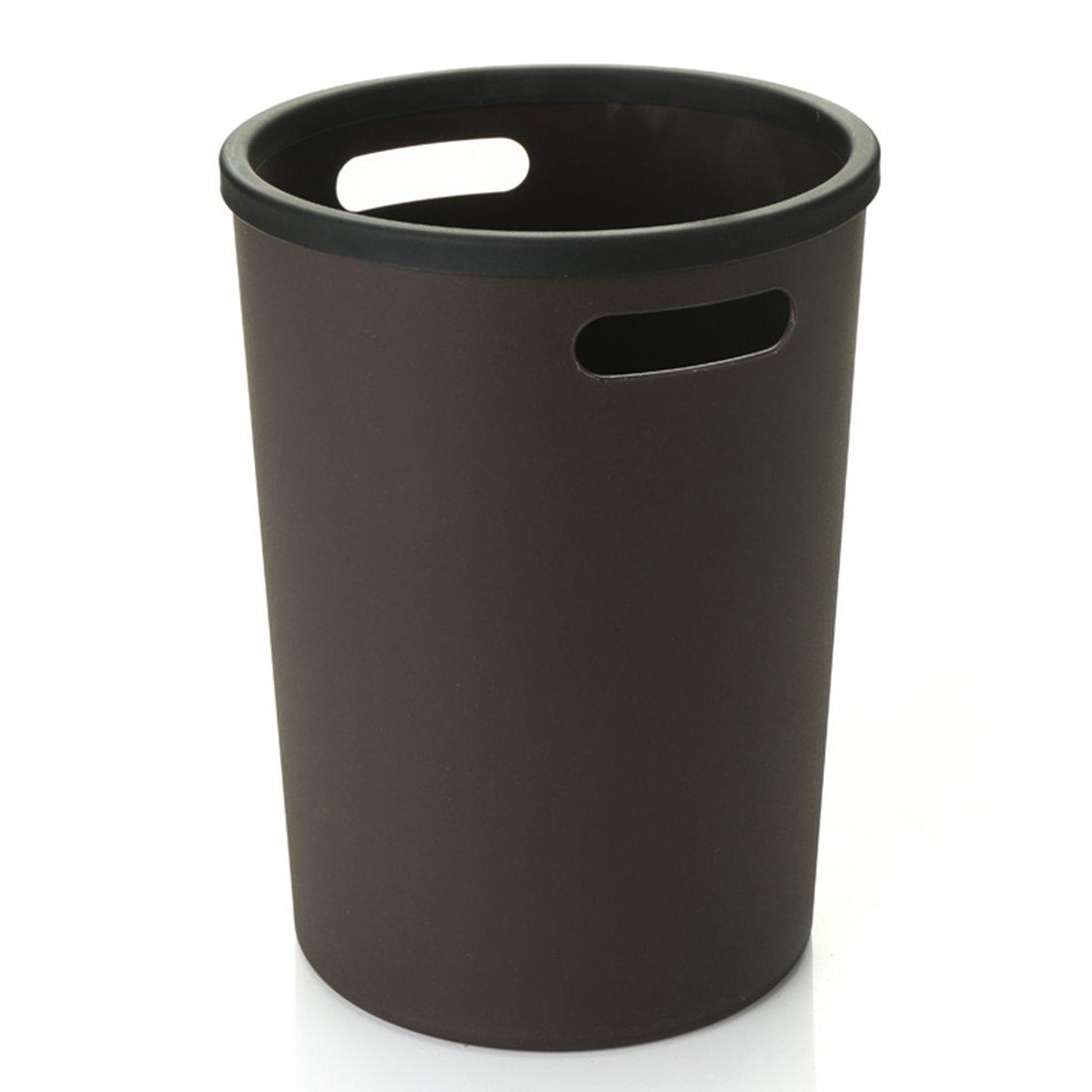 Papierkörbe, WEIZQ Runder Mülleimer für Büro Schlafzimmer Küche kinder mit Griffen Trash Bin Papierkorb ohne Deckel Papierkörbe