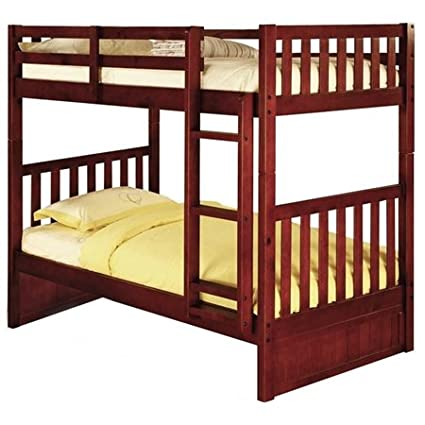 separation shoes e2f4e 1f193 Amazon.com: McAllister Twin Over Twin Bunk Bed - Slats, Bead ...