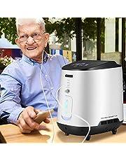 KKTECT Zuurstof Concentrator Verstelbare Draagbare Zuurstof Machine met IMD Mooie Grote Kleur Panel Grote Stroom van 1-7L/min 42db Stil voor Thuis en Reizen Gebruik
