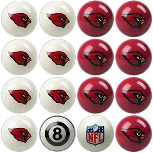 Arizona Cardinals Nfl Billiard Balls - Imperial Officially Licensed NFL Merchandise: Home vs. Away Billiard/Pool Balls, Complete 16 Ball Set, Arizona Cardinals