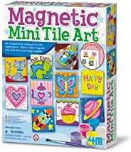 4M Magnetic Mini Tile Art - DIY Paint Arts & Crafts Magnet Kit for Kids - Fridge, Locker, Party Favors, Craft Project Gifts